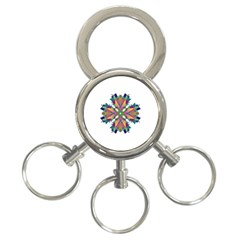 Modern Art 3-Ring Key Chain
