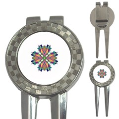 Modern Art Golf Pitchfork & Ball Marker