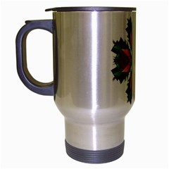 Modern Art Travel Mug (Silver Gray)