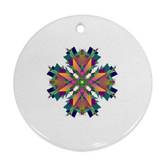 Modern Art Round Ornament (Two Sides)