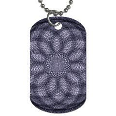 Spirograph Dog Tag (two Sided)