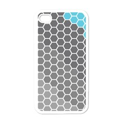 Hexagon Waves Apple iPhone 4 Case (White)