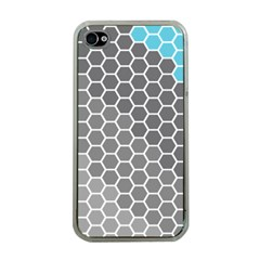 Hexagon Waves Apple Iphone 4 Case (clear)