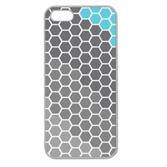 Hexagon Waves Apple Seamless iPhone 5 Case (Clear)
