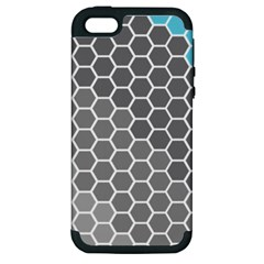 Hexagon Waves Apple iPhone 5 Hardshell Case (PC+Silicone)
