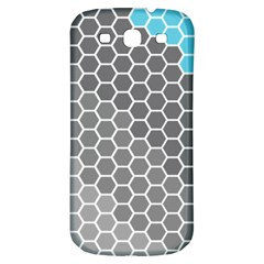 Hexagon Waves Samsung Galaxy S3 S III Classic Hardshell Back Case