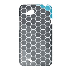 Hexagon Waves HTC T328D (Desire VC) Hardshell Case