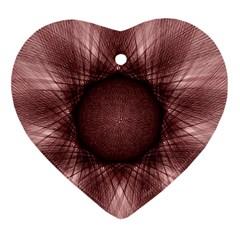 Spirograph Heart Ornament