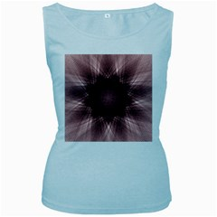Spirograph Womens  Tank Top (Baby Blue)