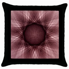 Spirograph Black Throw Pillow Case