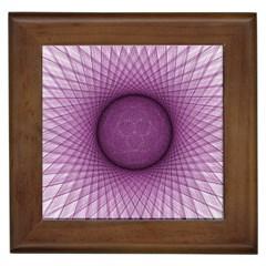 Spirograph Framed Ceramic Tile