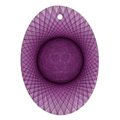 Spirograph Oval Ornament