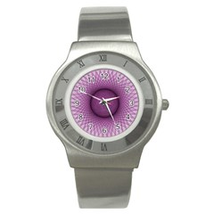 Spirograph Stainless Steel Watch (Unisex)