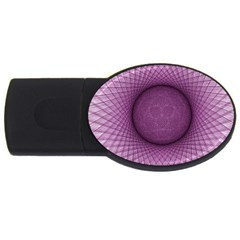 Spirograph 4gb Usb Flash Drive (oval)