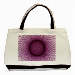 Spirograph Twin Sided Black Tote Bag