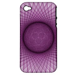 Spirograph Apple iPhone 4/4S Hardshell Case (PC+Silicone)