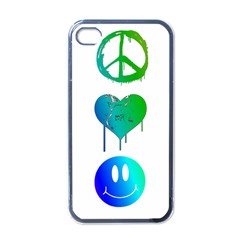 Peace Love And Happiness Apple Iphone 4 Case (black)