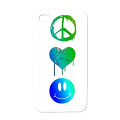 Peace Love And Happiness Apple Iphone 4 Case (white)