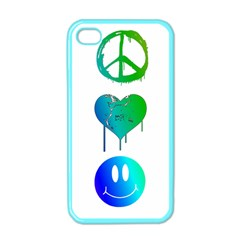 Peace Love and Happiness Apple iPhone 4 Case (Color)