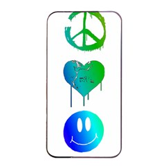 Peace Love And Happiness Apple Iphone 4/4s Seamless Case (black)