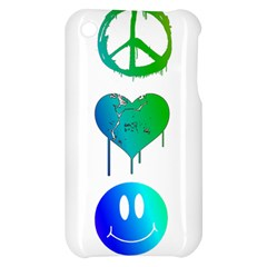 Peace Love and Happiness Apple iPhone 3G/3GS Hardshell Case