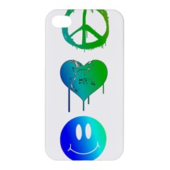 Peace Love and Happiness Apple iPhone 4/4S Premium Hardshell Case