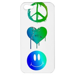 Peace Love and Happiness Apple iPhone 5 Hardshell Case