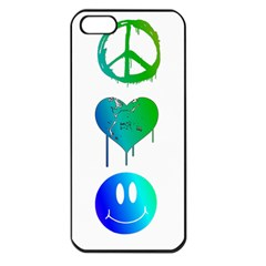 Peace Love And Happiness Apple Iphone 5 Seamless Case (black)