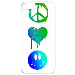 Peace Love and Happiness Apple iPhone 5 Classic Hardshell Case