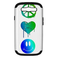 Peace Love And Happiness Samsung Galaxy S Iii Hardshell Case (pc+silicone)
