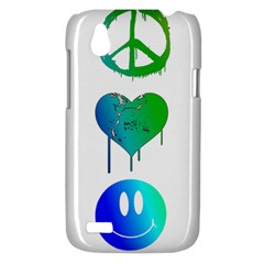 Peace Love and Happiness HTC T328W (Desire V) Case