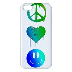 Peace Love and Happiness iPhone 5 Premium Hardshell Case