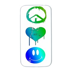 Peace Love And Happiness Samsung Galaxy S4 I9500/i9505  Hardshell Back Case