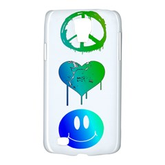 Peace Love and Happiness Samsung Galaxy S4 Active (I9295) Hardshell Case