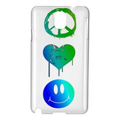 Peace Love and Happiness Samsung Galaxy Note 3 N9005 Hardshell Case