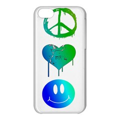 Peace Love And Happiness Apple Iphone 5c Hardshell Case