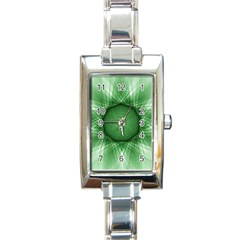 Spirograph Rectangular Italian Charm Watch