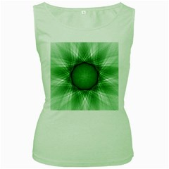 Spirograph Womens  Tank Top (Green)