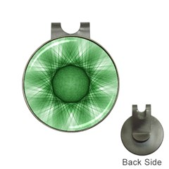 Spirograph Hat Clip with Golf Ball Marker