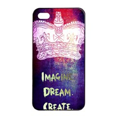 Imagine. Dream. Create. Apple iPhone 4/4s Seamless Case (Black)