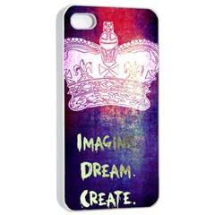 Imagine. Dream. Create. Apple iPhone 4/4s Seamless Case (White)