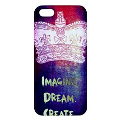 Imagine. Dream. Create. iPhone 5S Premium Hardshell Case