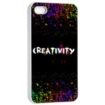 CREATIVITY. Apple iPhone 4/4s Seamless Case (White) Front