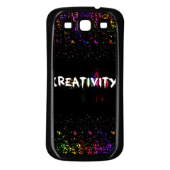 CREATIVITY. Samsung Galaxy S3 Back Case (Black)