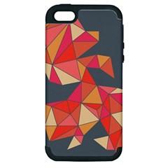 Angular Apple iPhone 5 Hardshell Case (PC+Silicone)