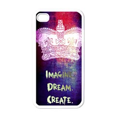 Imagine. Dream. Create. Apple iPhone 4 Case (White)