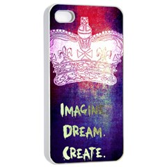 Imagine  Dream  Create  Apple Iphone 4/4s Seamless Case (white)