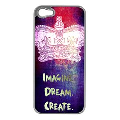 Imagine  Dream  Create  Apple Iphone 5 Case (silver)