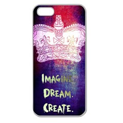 Imagine. Dream. Create. Apple Seamless iPhone 5 Case (Clear)