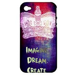 Imagine  Dream  Create  Apple Iphone 4/4s Hardshell Case (pc+silicone)